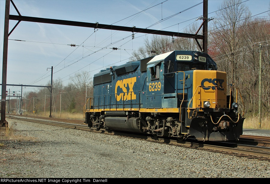 CSX 6239 on W950 PTC test train